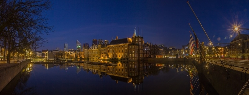 Panorama Hofvijver Den Haag - fotopapier
