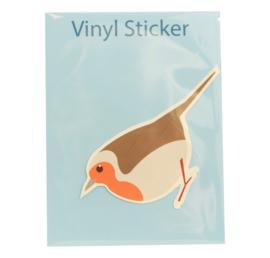 Vinyl sticker Roodborstje