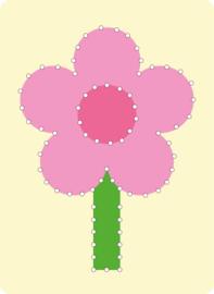Borduurkaart bloem