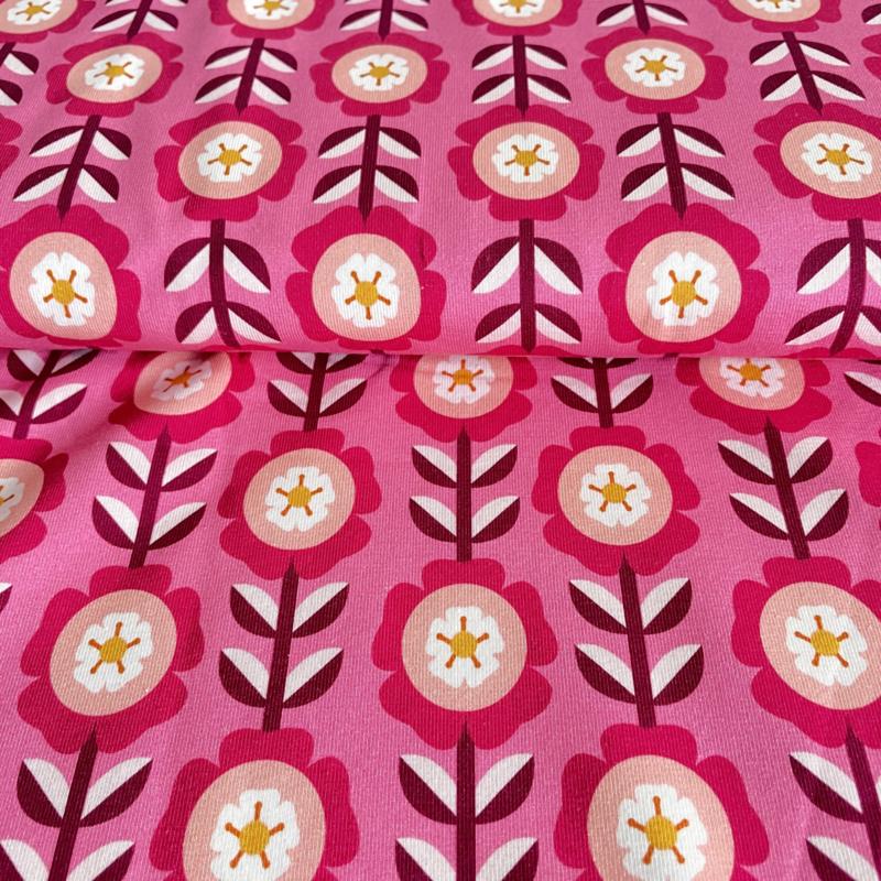 Bloemen roze jersey