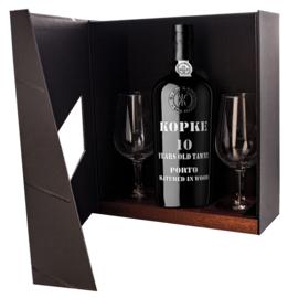 Kopke 10 Year Old Tawny Port 2 glazen in luxe doos: