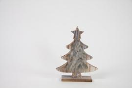 Kerstboom met bont