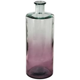 Grote glazen vaas roze PTMD