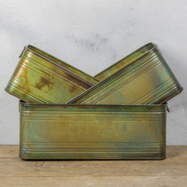 Metalen trays groen