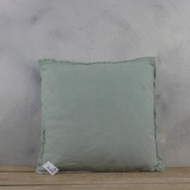 Sierkussen Stonewash Groen 45x45 cm