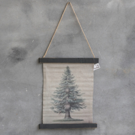 Oude Fotokaart dennenboom