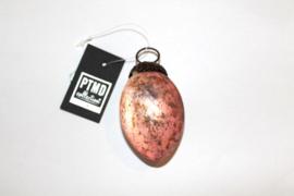 Kerstbal Ovaal Zacht Roze 6,5 cm