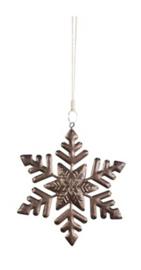Kerstboom Hanger Sneeuwvlok Brons