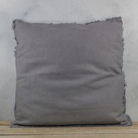 Sierkussen Stonewash Grijs 60x60 cm