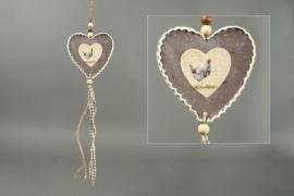 Landelijke decoratiehanger hart Countryfield