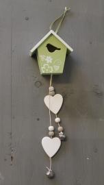 Decoratiehanger Vogelhuisje Groen