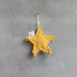 Stoffen ster hangend geel