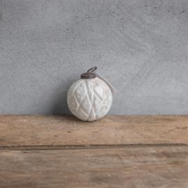 Glazen bal 7,5 cm marble white