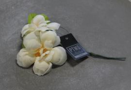 Zijden Kunstbloem Wit