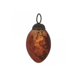 Kerstbal Ovaal Orange 6,5 cm