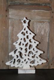 Houten kerstboom wit, M