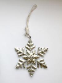 Kerstboom Hanger Sneeuwvlok Zilver