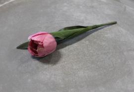 Zijden Kunstbloem Tulp Paars