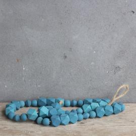 Kralenketting Donkblauw 95 cm