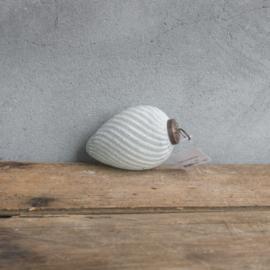 Glazen bal 10cm marble white