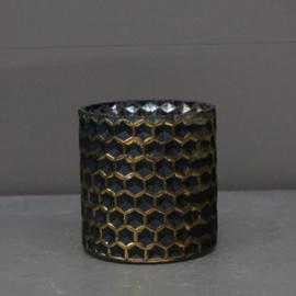Waxineglaasje blauw honingraad