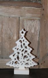 Houten kerstboom wit, S