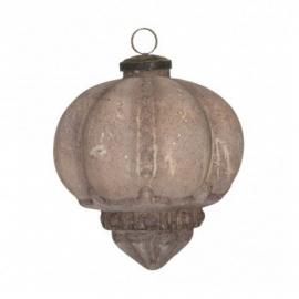 Glazen Kerstbal Pompoen Oud Roze 7 cm