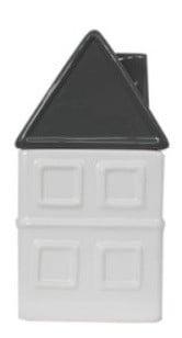 Voorraadpot huis keramiek 20 cm