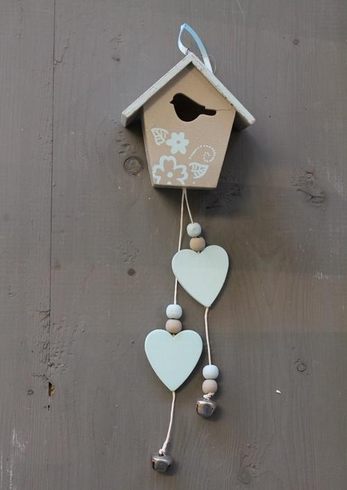 Decoratiehanger Vogelhuisje Blauw