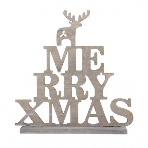 Staande kerstdecoratie met rendier