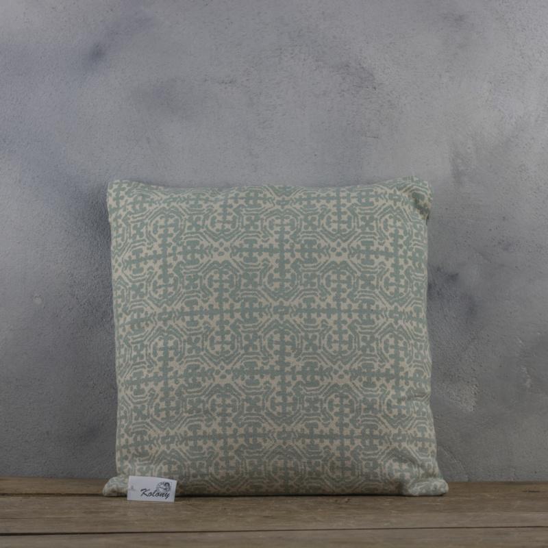 Sierkussen Print Stonewash Groen 45x45 cm
