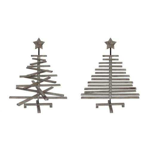 Kerstboom Hout Grijs ALLEEN AF TE HALEN IN DE WINKEL