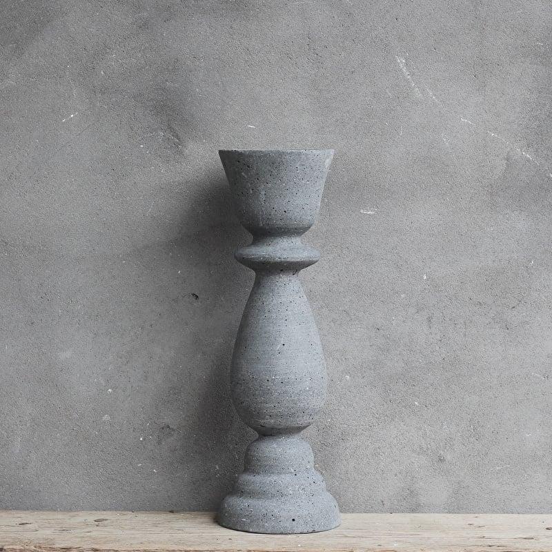 Kandelaar Grijs Cement 11 x 10 x 25 cm