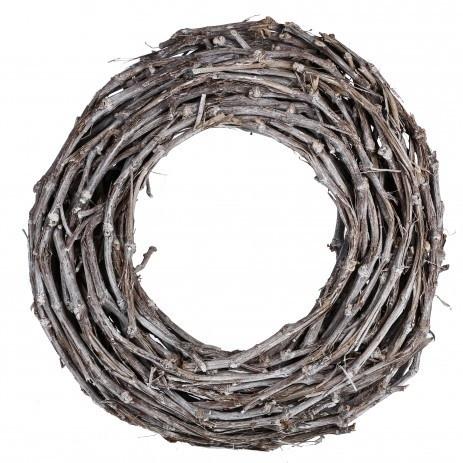 Landelijke Krans Wilgen Bruin/Wit S