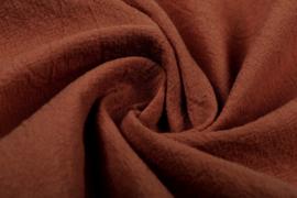 Gewassen katoen  Art:187  kleur Roest brique  - 5 meter voor