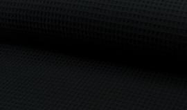 Wafelkatoen 100% katoen  kleur zwart  Art WF0186-069  - 1 meter voor