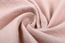 Gewassen katoen  Art:168  kleur licht poeder roze - 5 meter voor