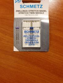 Schmetz naaimachine tweeling naalden stretch  2,5  / 75