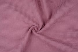 Wafelkatoen soepel ART WF73 donker Oud roze € 5,95 per meter. 5 meter voor