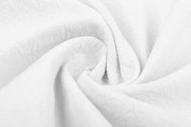 Gewassen katoen  Art:023    kleur Wit  5 meter voor