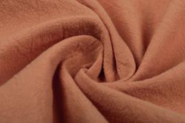 Gewassen katoen  Art:087  kleur Terra  - 5 meter voor