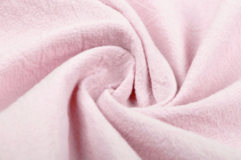 Gewassen katoen  Art:007  kleur licht roze - 5 meter voor