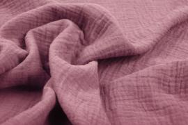 Hydrofiel doek 100% cotton kleur  donker oud roze   5 meter voor