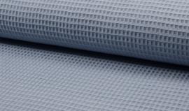 Wafelkatoen 100% katoen kleur dusty blue  ART WF0186-004  - 1 meter voor