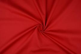 Katoen uni kleur rood   4,95 euro per meter