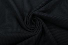 Baby wafel jersey  Art 022   zwart    5 meter voor