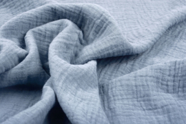 Hydrofiel doek 100% cotton kleur licht jeans    5 meter voor