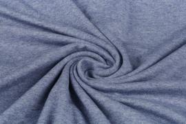 Tricot uni 155 cm breed kleur jeans melange  Art 1058 -  5 meter