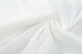 Hydrofiel doek 100% cotton Art 1561 sterren ecru   5 meter voor