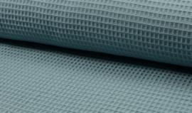 Wafelkatoen 100% katoen kleur Adriatic Blue Art WF0186-005    - 1 meter voor